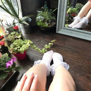 Other - 🔥3/30$ White lace decorative socks